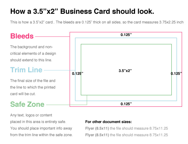 non standard size business cards - Business Card Standard Size