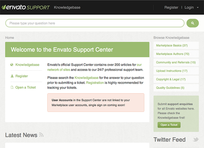 Knowledgebase screenshot